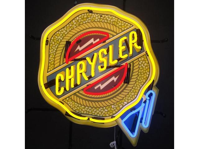 Neonetics Chrysler badge neon sign with backing - Newegg.ca