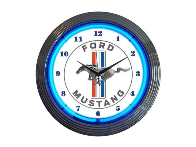Neonetics Ford mustang blue neon clock - Newegg.ca