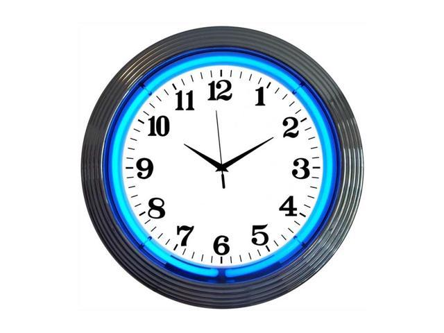 Neonetics Chrome blue standard neon clock - Newegg.ca