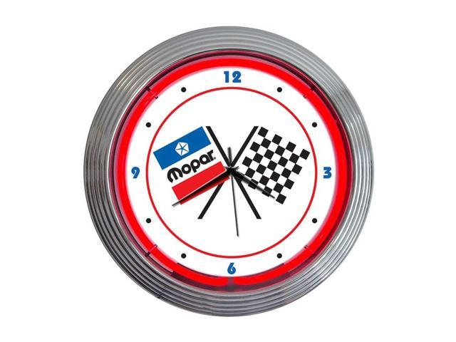 Neonetics Mopar checkered flag neon clock - Newegg.ca