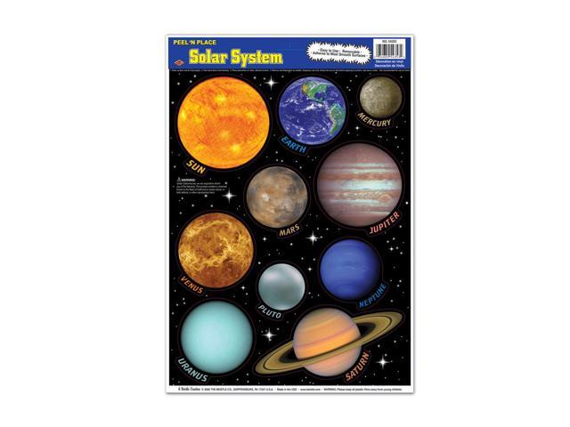 Beistle Home Decorations Party supply Solar System Peel 'N Place 12