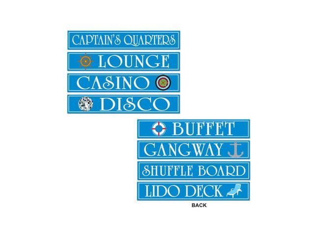 Beistle Home Decorations Party supply Cruise Ship Sign Cutouts 4