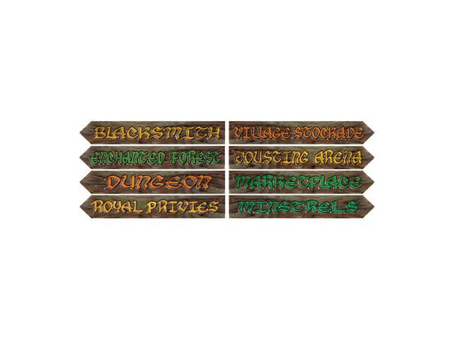 Beistle Home Decorations Party supply Medieval Street Sign Cutouts 3.75