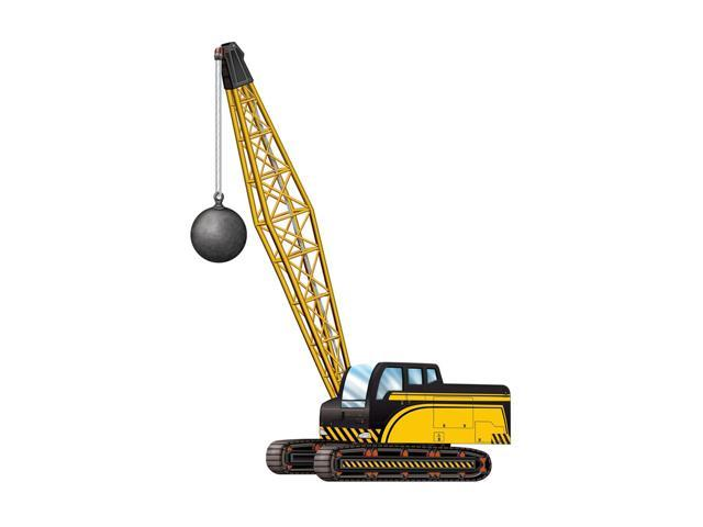 Beistle Home Decorations Party supply Jointed Crane w/Wrecking Ball 3' 2