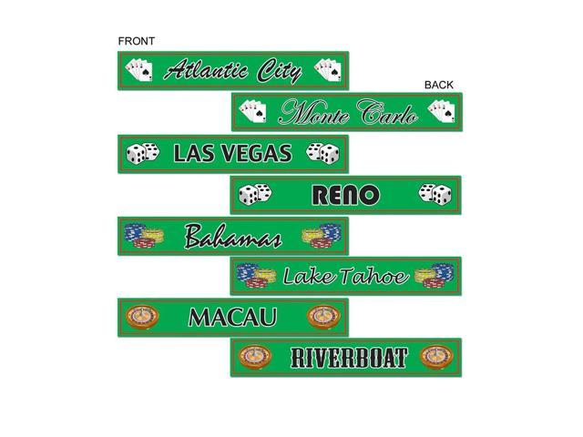 Beistle Home Decorations Party supply Gambling Destination Street Sign Cutouts 4