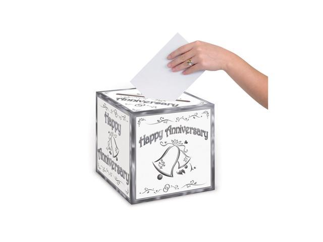 Beistle Home Decorations Party supply Anniversary Card Box 9
