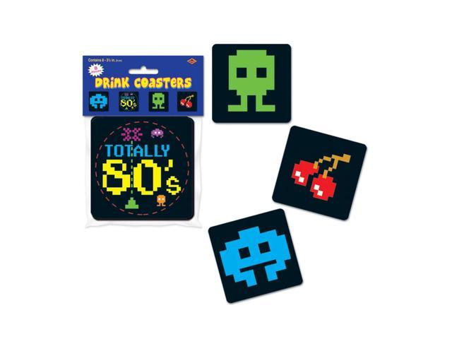 Beistle Home Decorations Party supply 80's Coasters 3.5