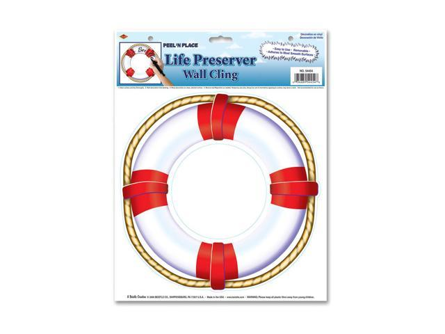 Beistle Home Decorations Party supply Life Preserver Peel 'N Place 12