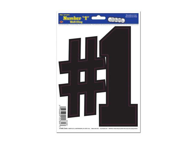 Beistle Home Decorations Party supply Black 1 Peel 'N Place 6