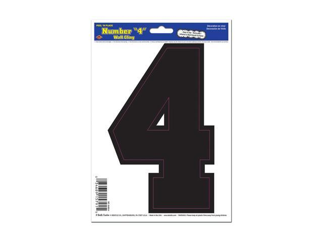 Beistle Home Decorations Party supply Black 4 Peel 'N Place 6