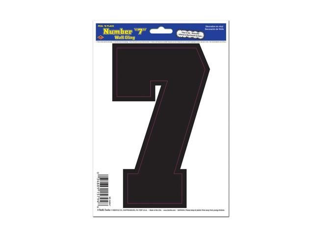 Beistle Home Decorations Party supply Black 7 Peel 'N Place 6