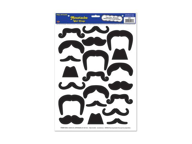 Beistle Home Decorations Party supply Moustaches Peel 'N Place 12