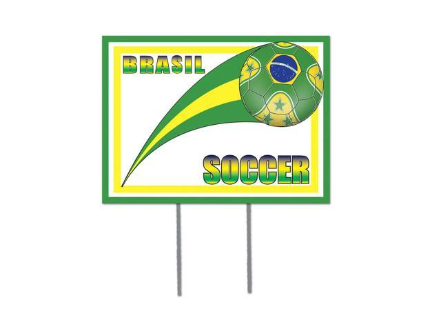 Beistle Home Decorations Party supply Plastic Yard Sign - Brasil 12