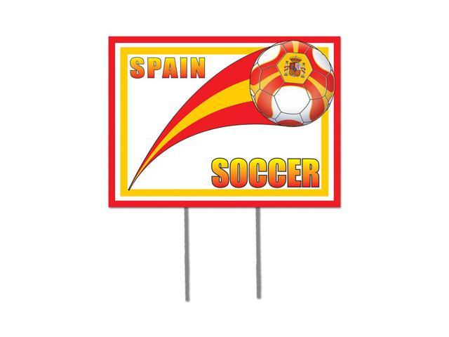 Beistle Home Decorations Party supply Plastic Yard Sign - Spain 12