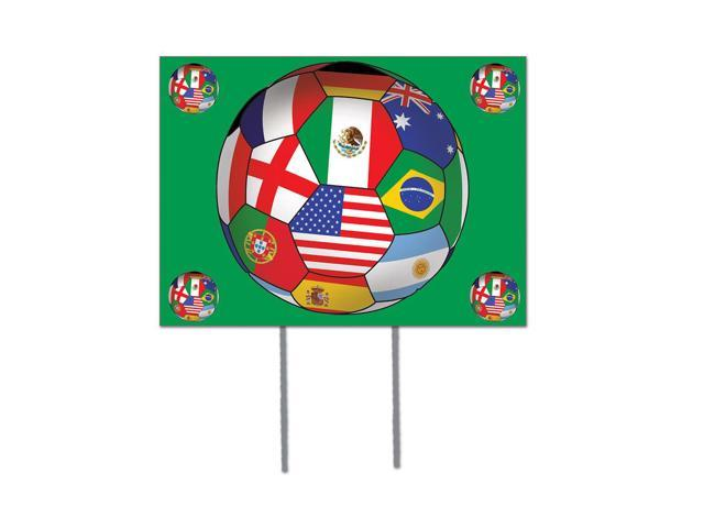Beistle Home Decorations Party supply Plastic Yard Sign - International 12