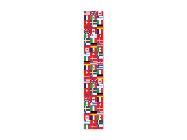 Beistle Home Decorations Party supply Jtd International Flag Pull-Down Cutout 6'