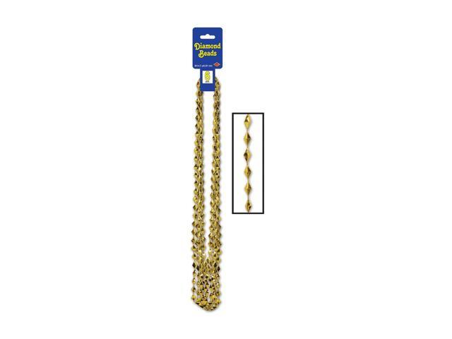 Beistle Home Decorations Party Supply Diamond Beads Gold 36