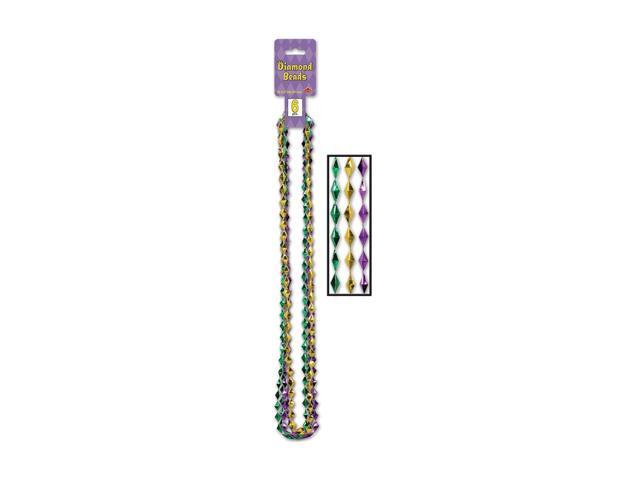 Beistle Home Decorations Party Supply Diamond Beads Gold, Green, Purple 36
