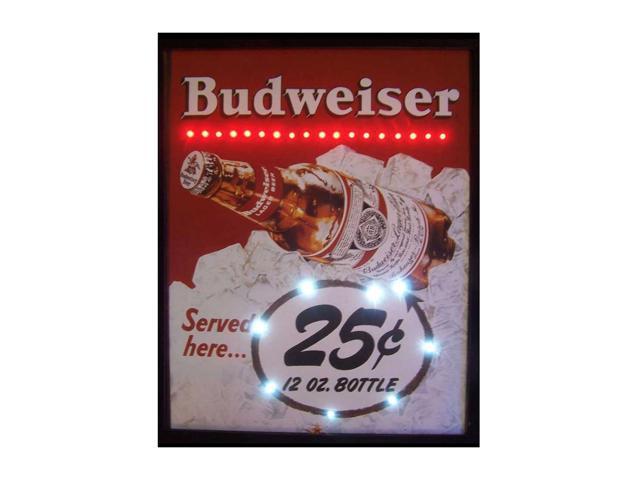 Neonetics Budweiser Served Here 25 Cent Led Poster
