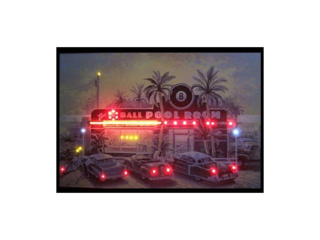 Neonetics 8 Ball Pool Room Neon Led Picture