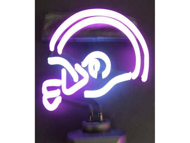 Neonetics Purple And White Football Helmet Neon Sculpture