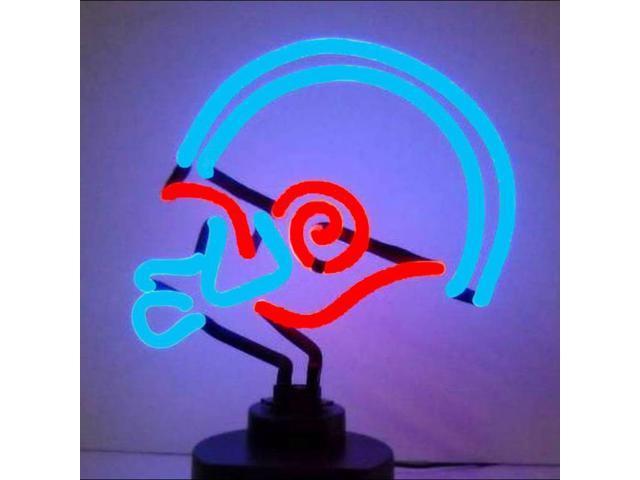 Neonetics Blue Red Football Helmet Neon Sculpture