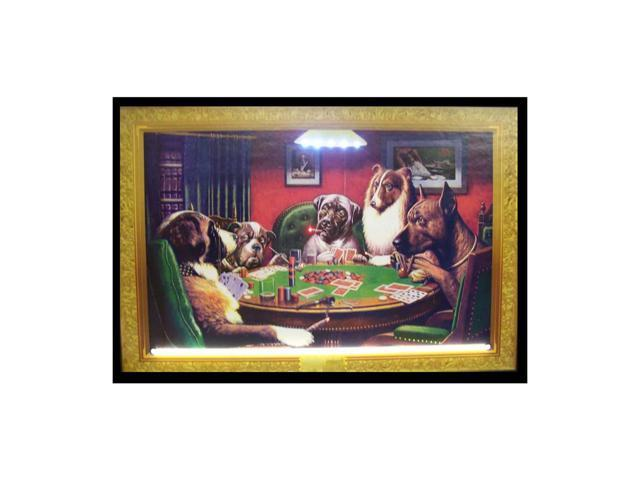 Neonetics Dogs Playing Poker Neon Led Picture