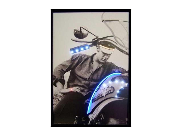 Neonetics Elvis On Motorcycle Neon Led Picture