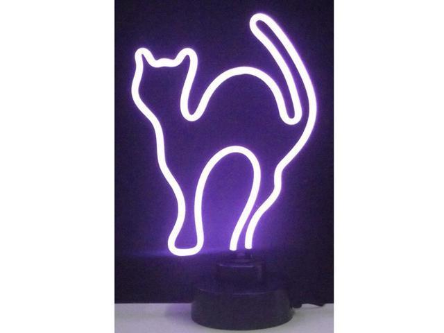 Neonetics Purple Cat Neon Sculpture