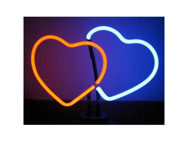 Neonetics Double Hearts Neon Sculpture