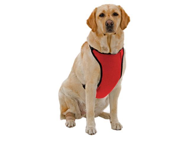 Kumfy Tailz Small Pet Animals Safe Protective Adjustable Neck Mesh Harness Small Red