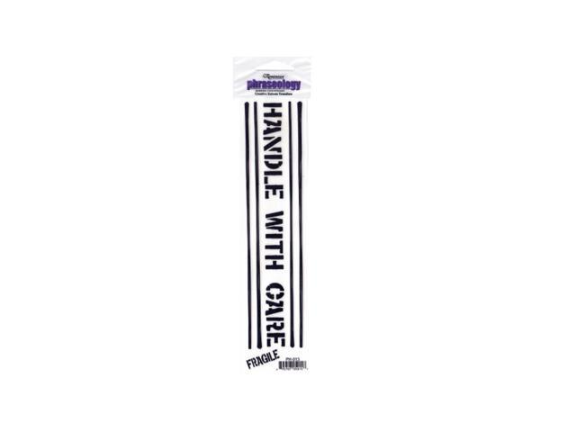 Kole Imports Handle With Care Creative Rub-On Transfer Pack Of 24