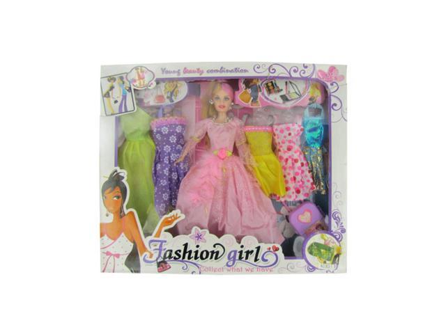 Kole Imports Fashion Girl Doll With Dresses Pack Of 1