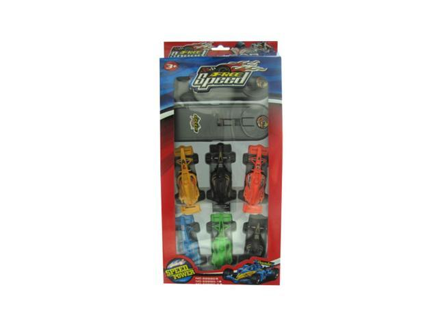 Kole Imports Press And Go Race Car Set Pack Of 12
