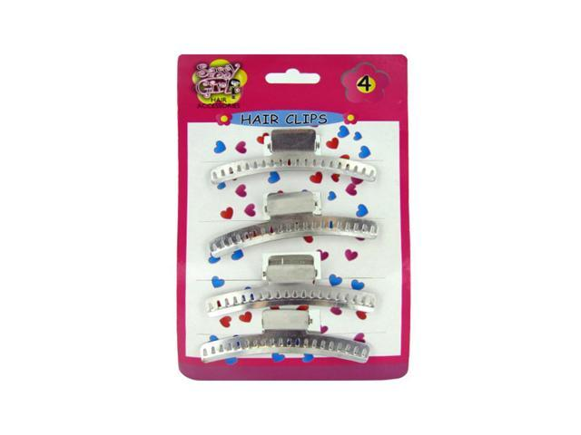 Kole Imports Metal Hair Clips Set Pack Of 24