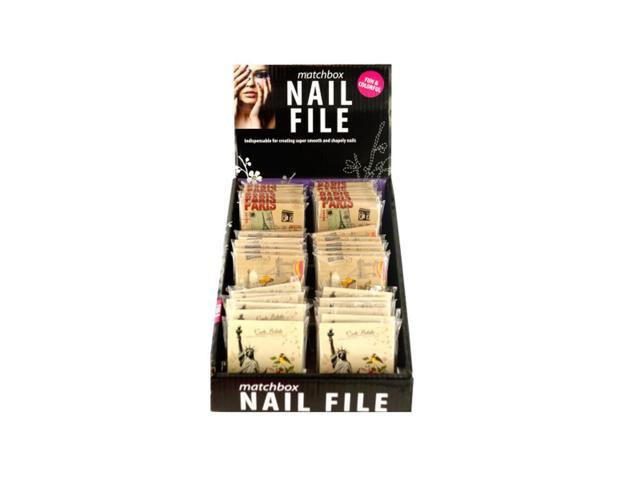 Kole Imports Nail File Matchbook Display Case Of 36
