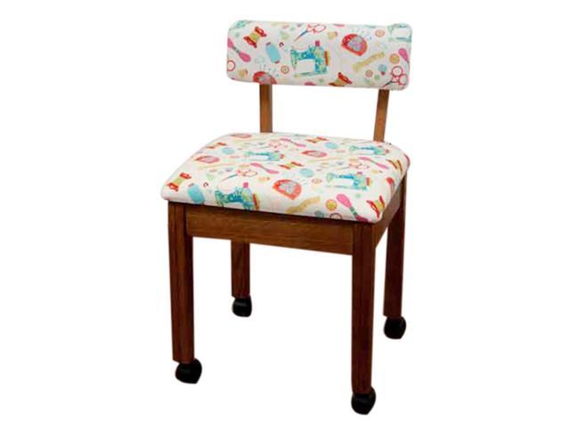 Arrow craft room furniture wood sewing fabric chair oak for Sewing room furniture