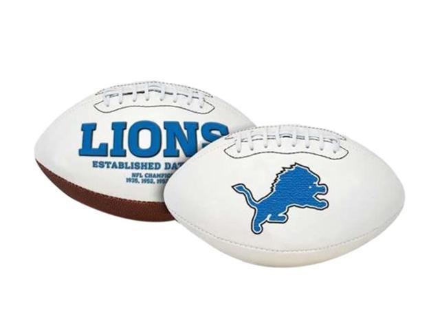 Creative Sports FB-LIONS-Signature Detroit Lions Embroidered Logo Signature Series Football