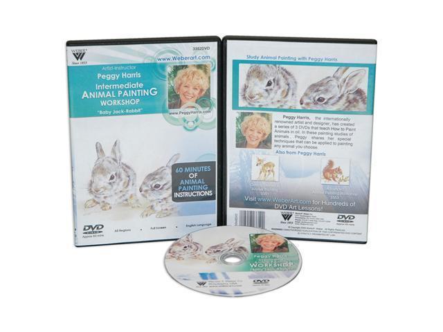 Weber Harris Dvd Animal Oil Painting Workshop, Intermediate - Baby Jack Rabbits 1 Hour