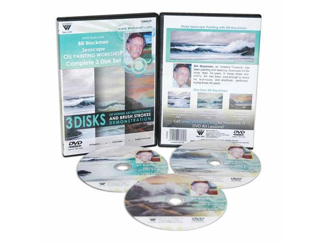 Weber Blackman Dvd Seascape Oil Painting 3 Hour-1Hr Of Each Of Dvd 3361, 3362, and 3363