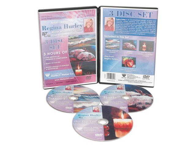 Weber Reginna Hurley Painting Collection On Roses, Sunsets Plus Candle And Marbles