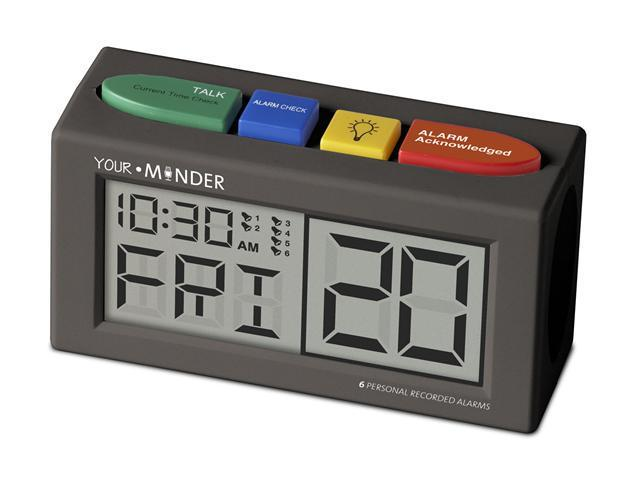 MedCenter Your Minder Interactive 6 Personalized 10 sec Reminder Clock with AC Adapter