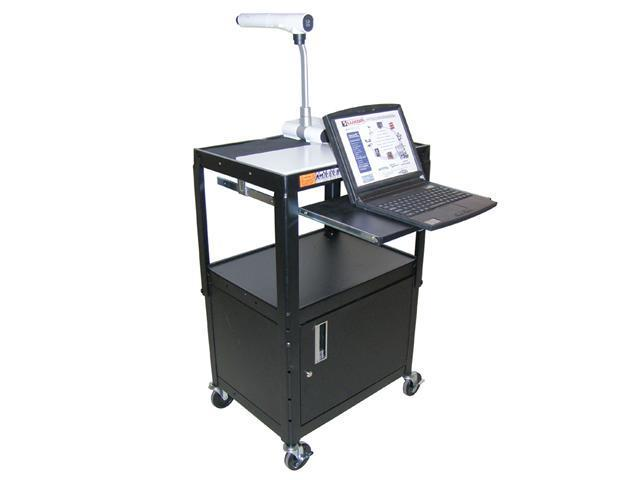 Luxor AVJ42KBC Adjustable Height Workstation With Keyboard and Cabinet