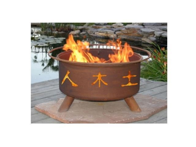 Patina Products Chinese Symbols Classic Fire Pit - Natural Rust
