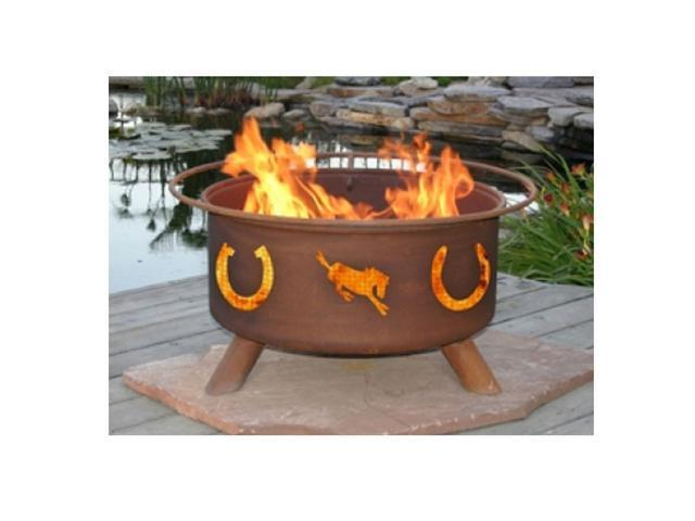 Patina Products Horseshoes Classic Fire Pit - Natural Rust