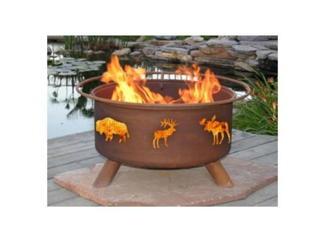 Patina Products Wildlife Classic Fire Pit - Natural Rust