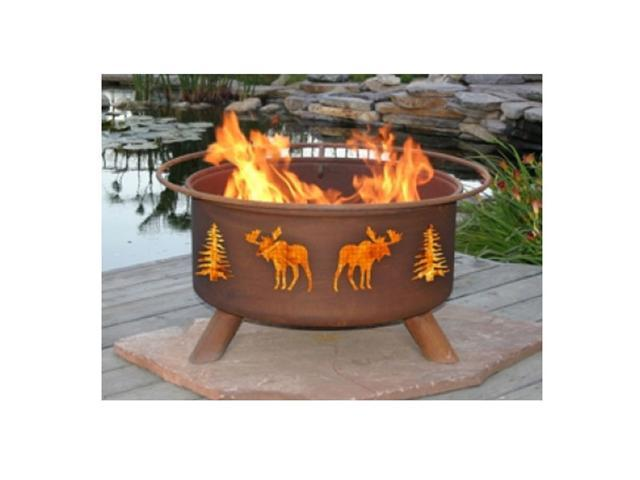 Patina Products Moose & Trees Classic Fire Pit
