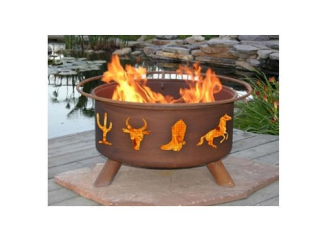 Patina Products Western Cowboy Classic Fire Pit - Natural Rust