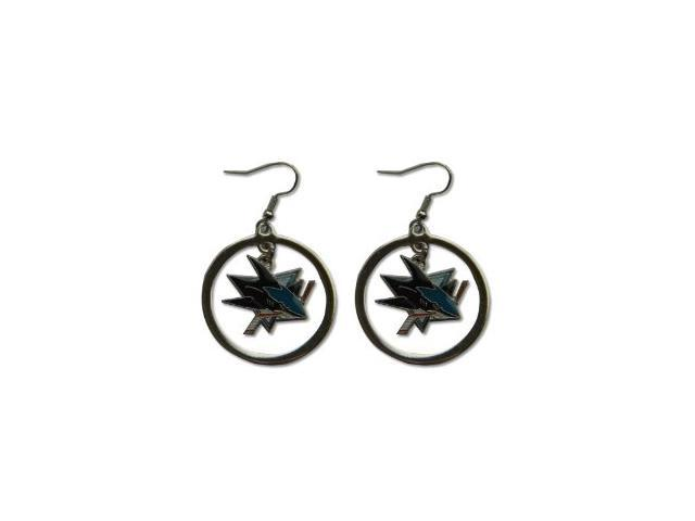 San Jose Sharks Hoop Logo Earring Set Nhl Charm