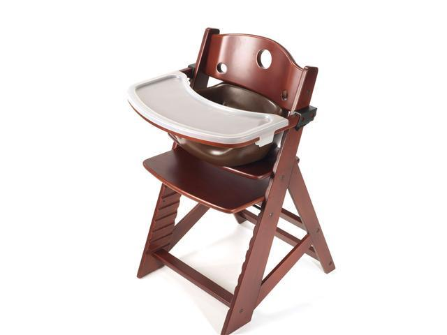 Keekaroo Height Right High Chair with Infant Insert & Tray - Mahagany/Chocolate